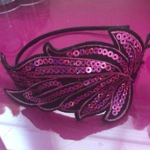 Other - glitter feather headband